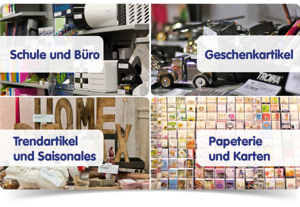 Das Sortiment - Schule / Büro / Trendartikel / Geschenkartikel / Papeterie / Karten