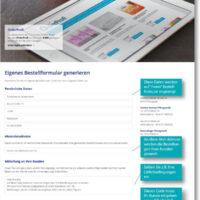 Bestellformular-Generator: Kundenansicht